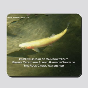 2013 Calendar of Rainbow Trout, Brown Tr Mousepad