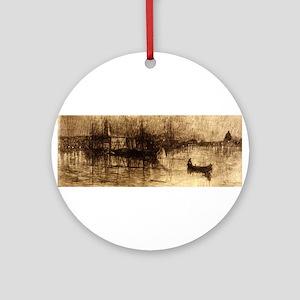 A rainy night, Venice - Otto H Bacher - 1880 Round
