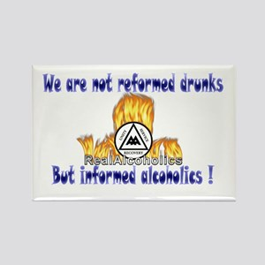 Real Alcoholics Rectangle Magnet