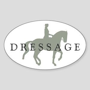 Piaffe w/ Dressage Text Sticker (Oval)