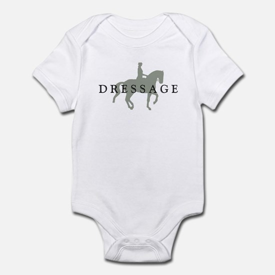 Piaffe w/ Dressage Text Infant Bodysuit
