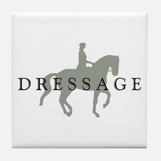 Piaffe w/ Dressage Text Tile Coaster