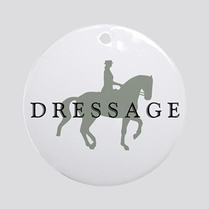 Piaffe w/ Dressage Text Ornament (Round)