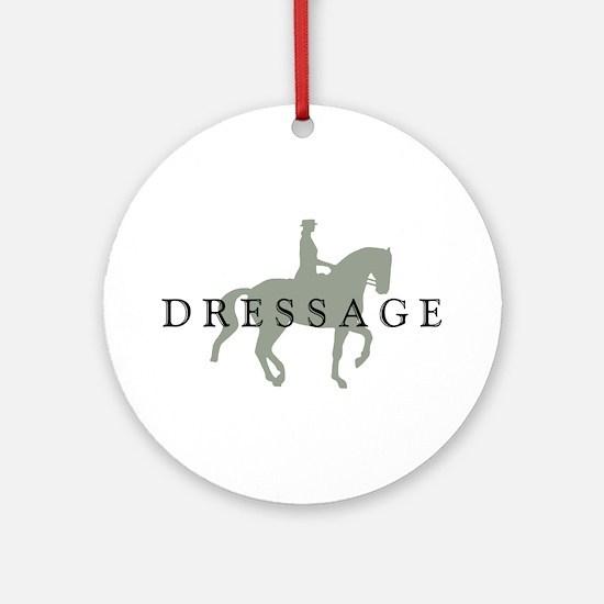 Piaffe w/ Dressage Text Ornament (Round)