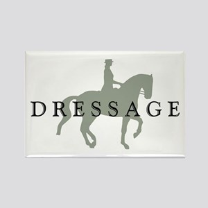 Piaffe w/ Dressage Text Rectangle Magnet