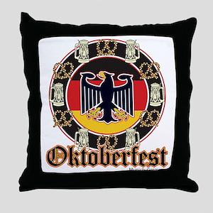 Oktoberfest Beer and Pretzels Throw Pillow