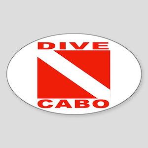 Dive Cabo Oval Sticker