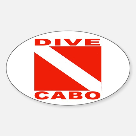 Dive Cabo Oval Decal
