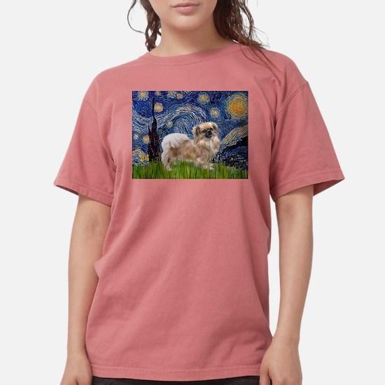 Starry Night (Van Gogh) & Tib Ash Grey T-Shirt