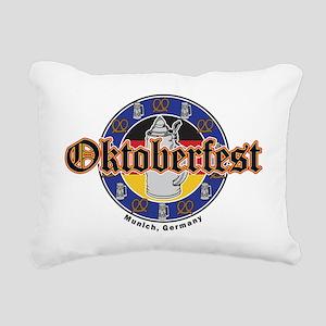 Oktoberfest Beer and Pre Rectangular Canvas Pillow