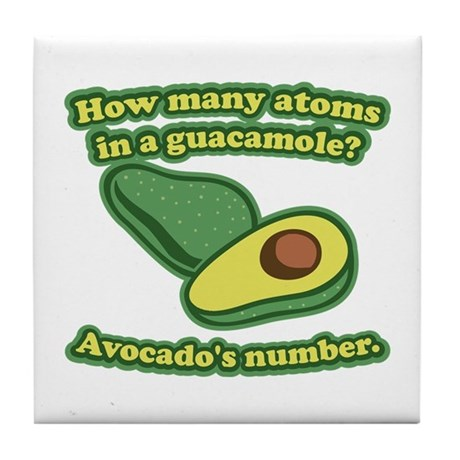 How many atoms in a guacamole? Avocado's number. T
