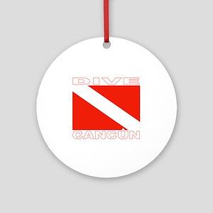 Dive Cancun Ornament (Round)