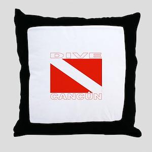Dive Cancun Throw Pillow