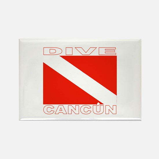 Dive Cancun Rectangle Magnet