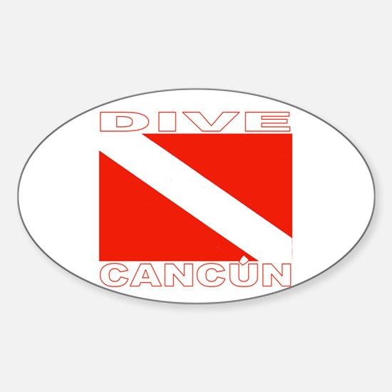 Dive Cancun Oval Decal