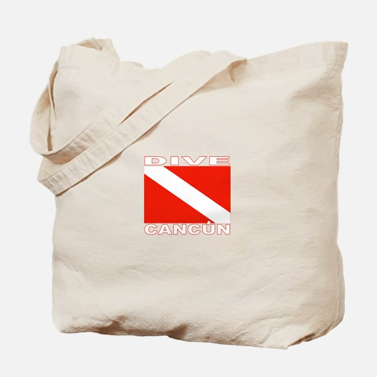 Dive Cancun Tote Bag