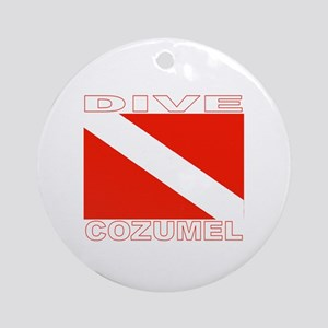 Dive Cozumel Ornament (Round)