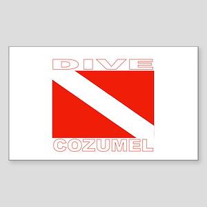 Dive Cozumel Rectangle Sticker
