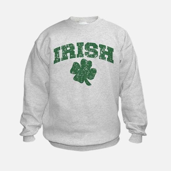 Worn Irish Shamrock Sweatshirt