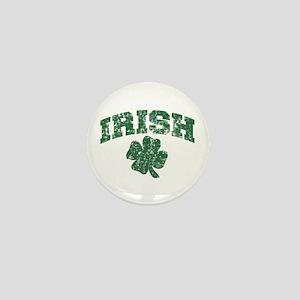Worn Irish Shamrock Mini Button