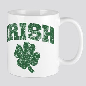 Worn Irish Shamrock Mug