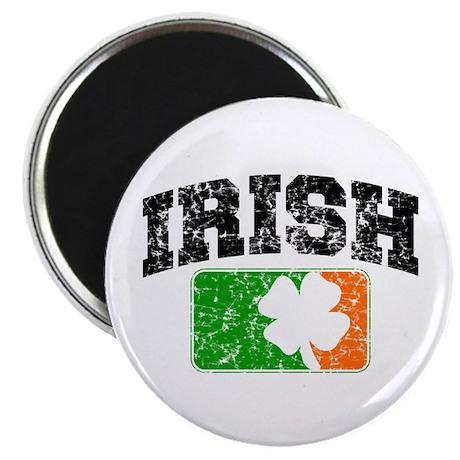 "Distressed Irish Flag Logo 2.25"" Magnet (10 pack)"