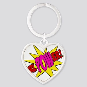 Girl Power Heart Keychain