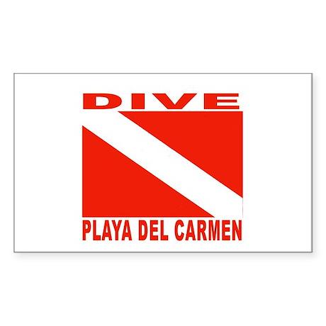 Dive Playa Del Carmen Rectangle Sticker