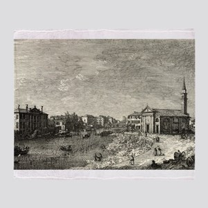 Al Dolo - Canaletto - 1746 Throw Blanket