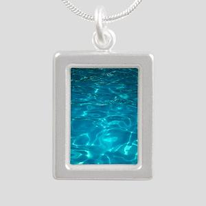 Pool Silver Portrait Necklace