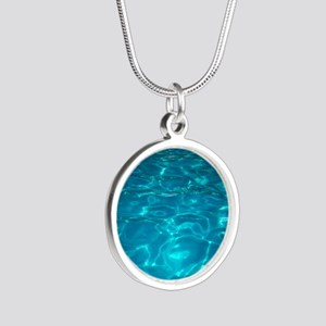 Pool Silver Round Necklace