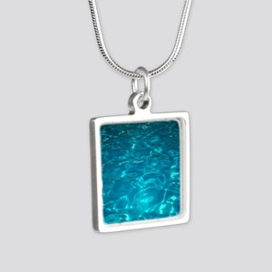 Pool Silver Square Necklace