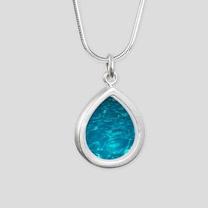 Pool Silver Teardrop Necklace