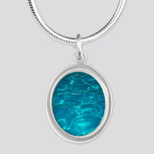 Pool Silver Oval Necklace