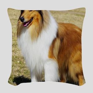 Collie Rough AF036D-028 Woven Throw Pillow
