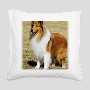 Collie Rough AF036D-028 Square Canvas Pillow