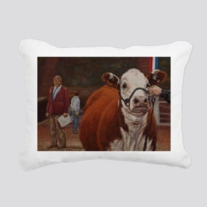 Heifer Class - Hereford Rectangular Canvas Pillow