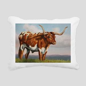 Texas Longhorn Steer Rectangular Canvas Pillow