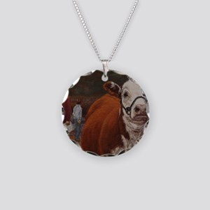 Heifer Class - Hereford Necklace Circle Charm