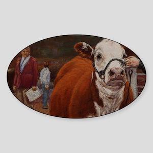 Heifer Class - Hereford Sticker (Oval)