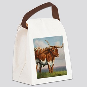 Texas Longhorn Steer Canvas Lunch Bag