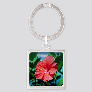 Caribbean flower Square Keychain