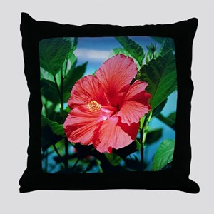 Caribbean flower Throw Pillow