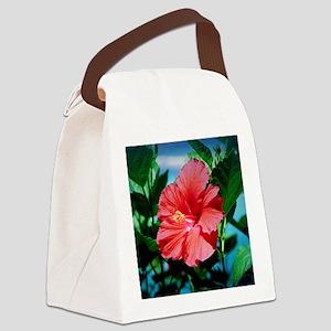 Caribbean flower Canvas Lunch Bag