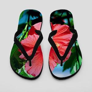 938f0658006a Hibiscus Flowers Flip Flops - CafePress