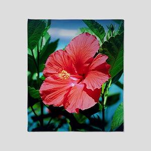 Caribbean flower Throw Blanket