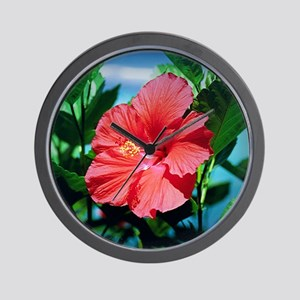 Caribbean flower Wall Clock