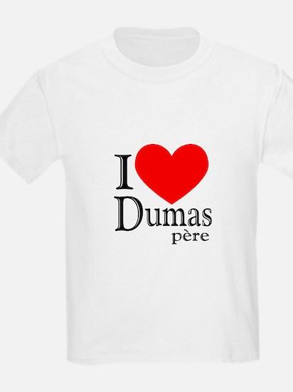 I Love Dumas Pere Kids T-Shirt