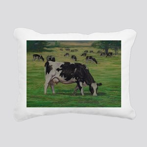 Holstein Milk Cow in Pas Rectangular Canvas Pillow