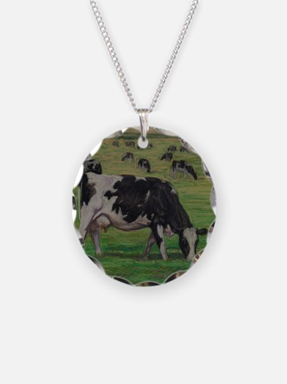 Holstein Milk Cow in Pasture Necklace